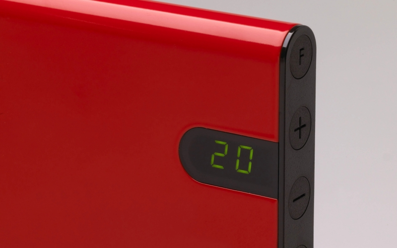 Elektriskais konvektors GLAMOX heating H30 H10 KDT Red